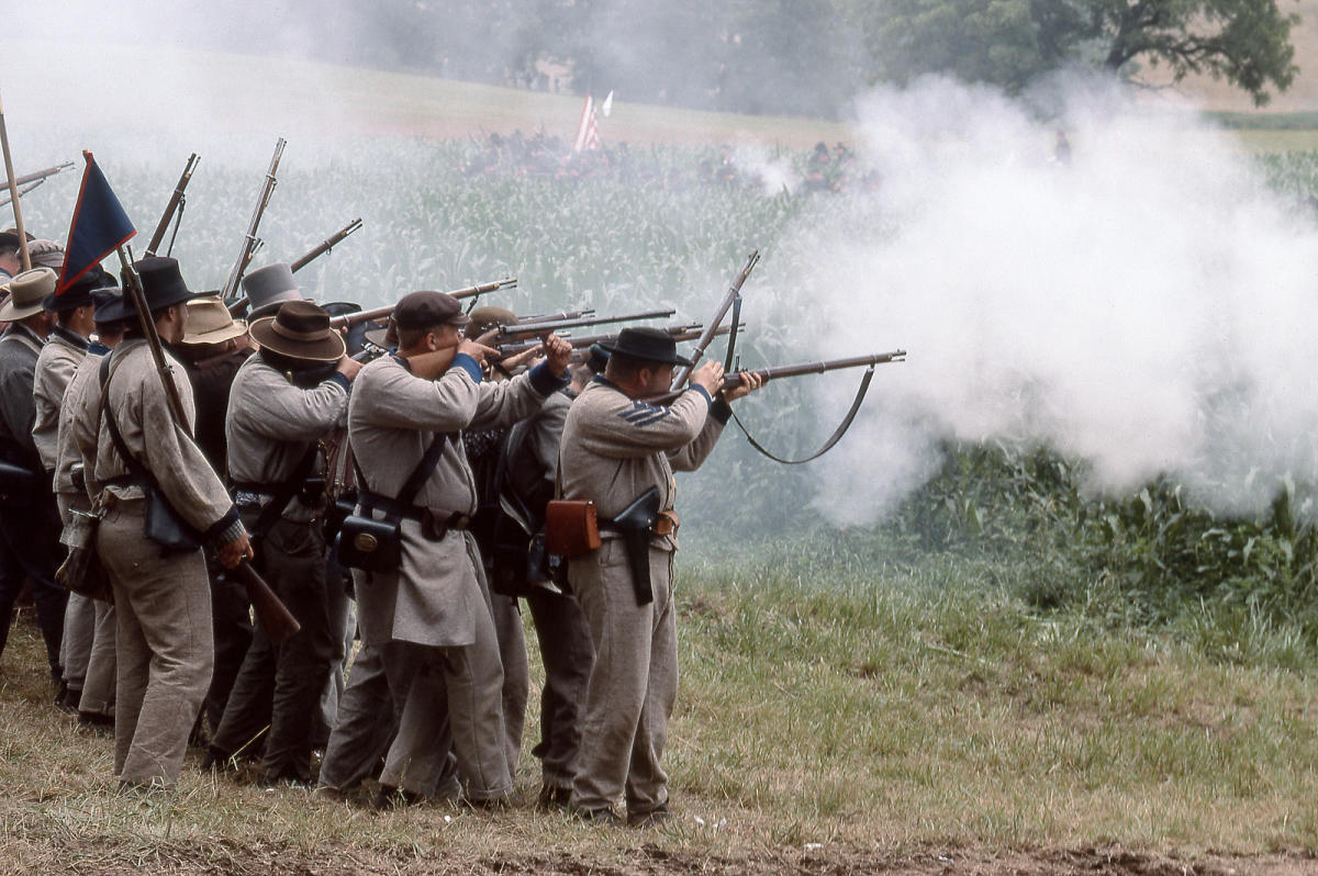 Reenactment of Battle of Wilson's Creek