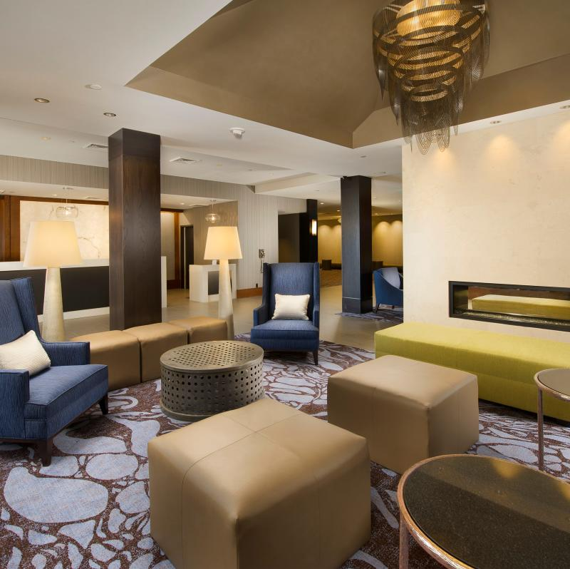 Crowne Plaza Seattle Airport lobby. Hotels near Seattle Airport