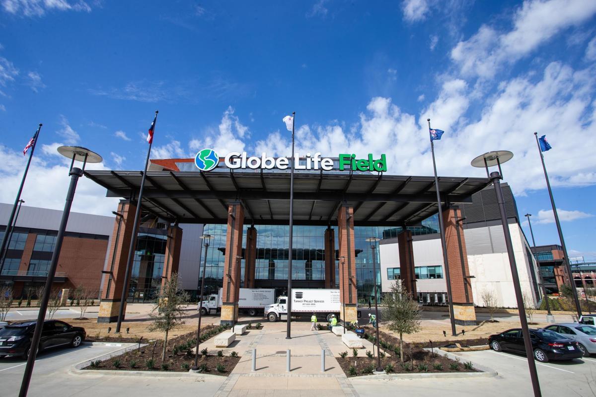 Photo of entrance at Globe Life Field