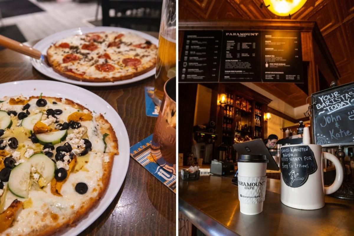 Pizzas and Coffee at Paramount Cafe
