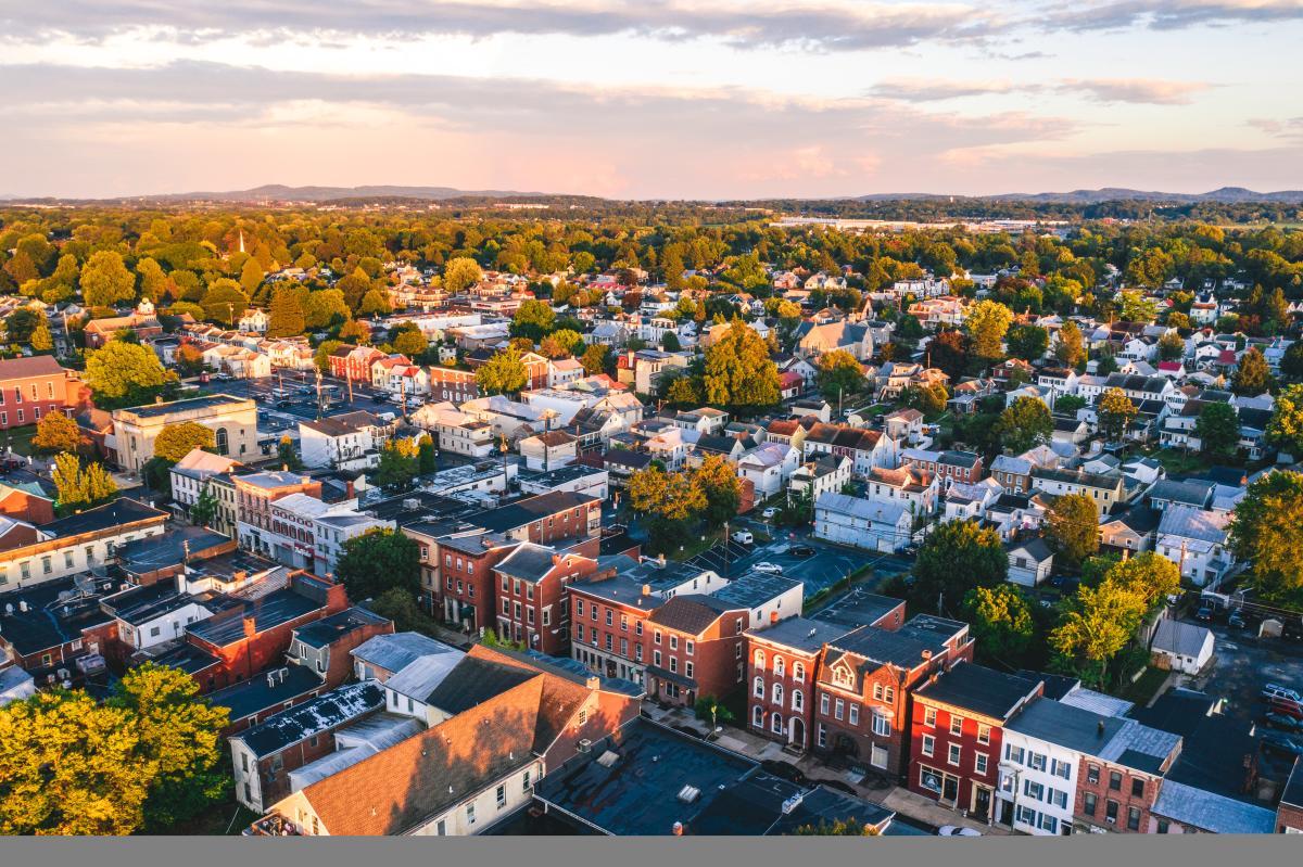 Downtown Mechanicsburg Drone