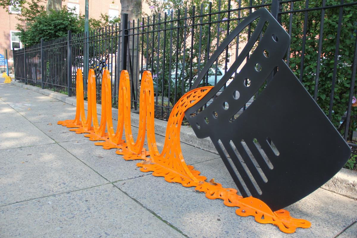 Bike rack by the SouthSide Arts District