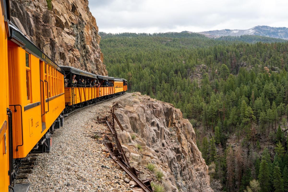 Durango Train During the Spring