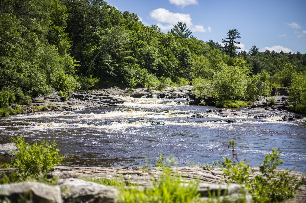 Big Falls County Park water