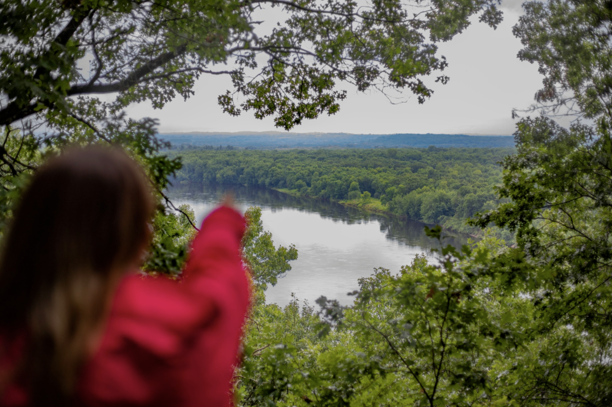 Girl pointing at the view of Town of Union Conservancy
