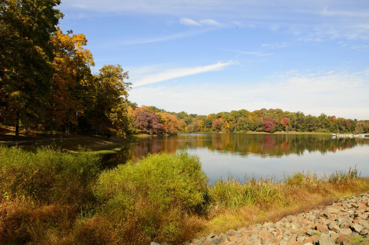 Lake Fairfax Park in Fall