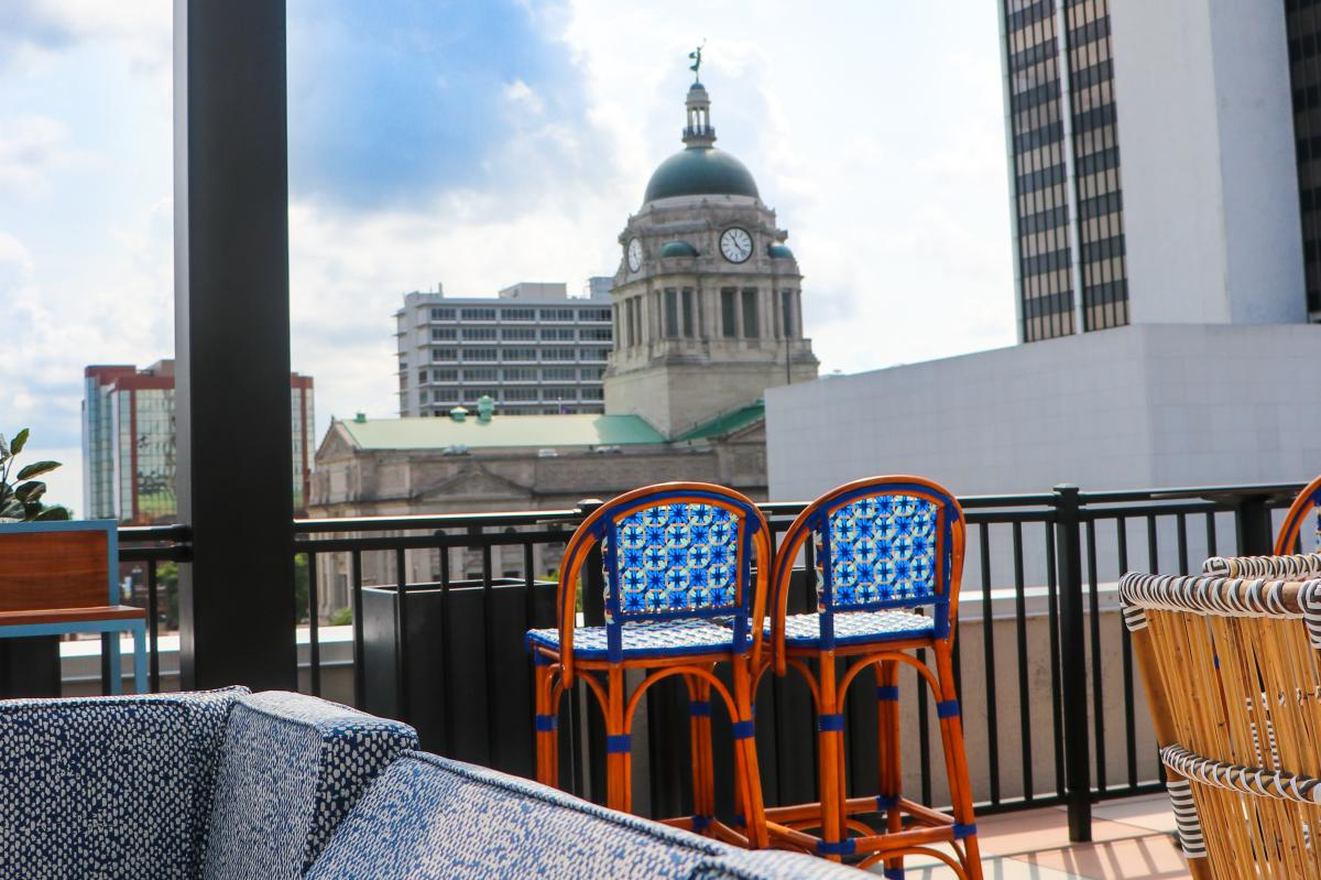 The Bradley rooftop dining