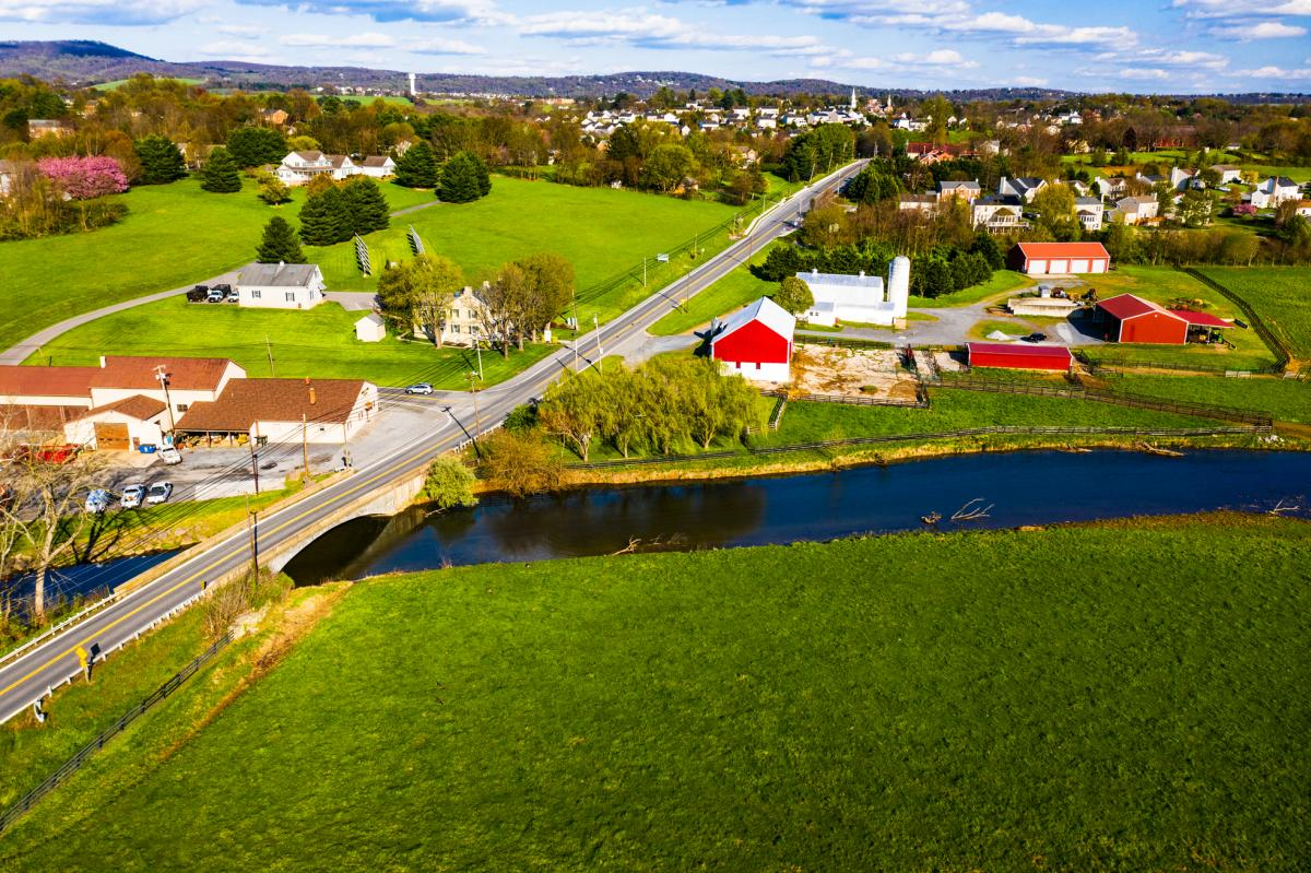 Aerial view of the Middletown ALT Route 40 Bridge