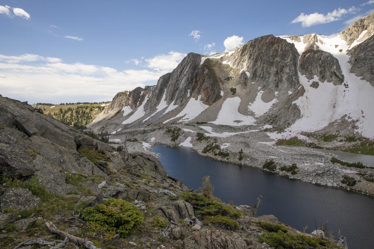 Alpine hike in Wyoming's Snowy Range, Diamond Peak