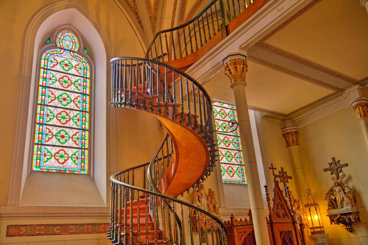 Quintessential New Mexico: Loretto Chapel's spiral staircase