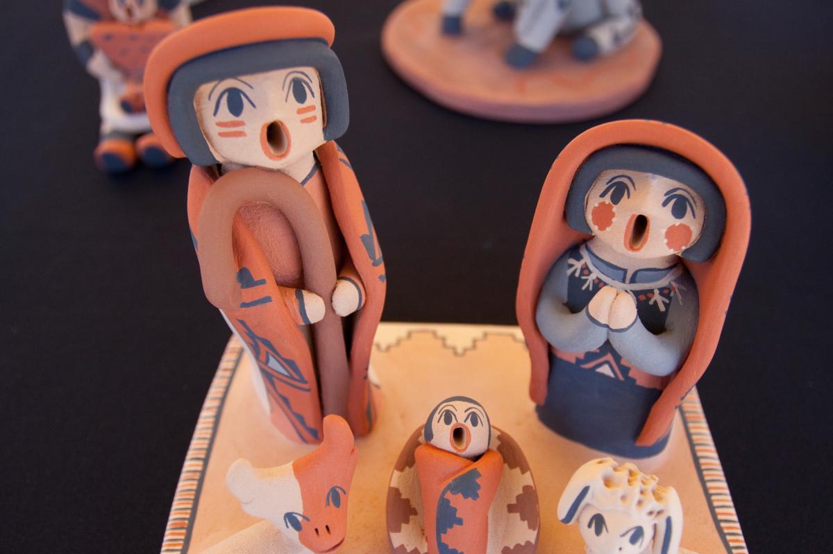 Jemez Craft Fair Ceramic Pueblo Figures