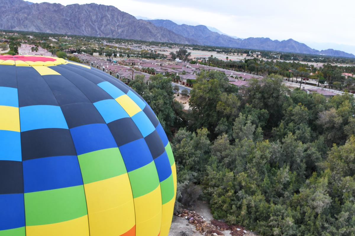 Hot Air Balloon rising in Greater Palm Springs