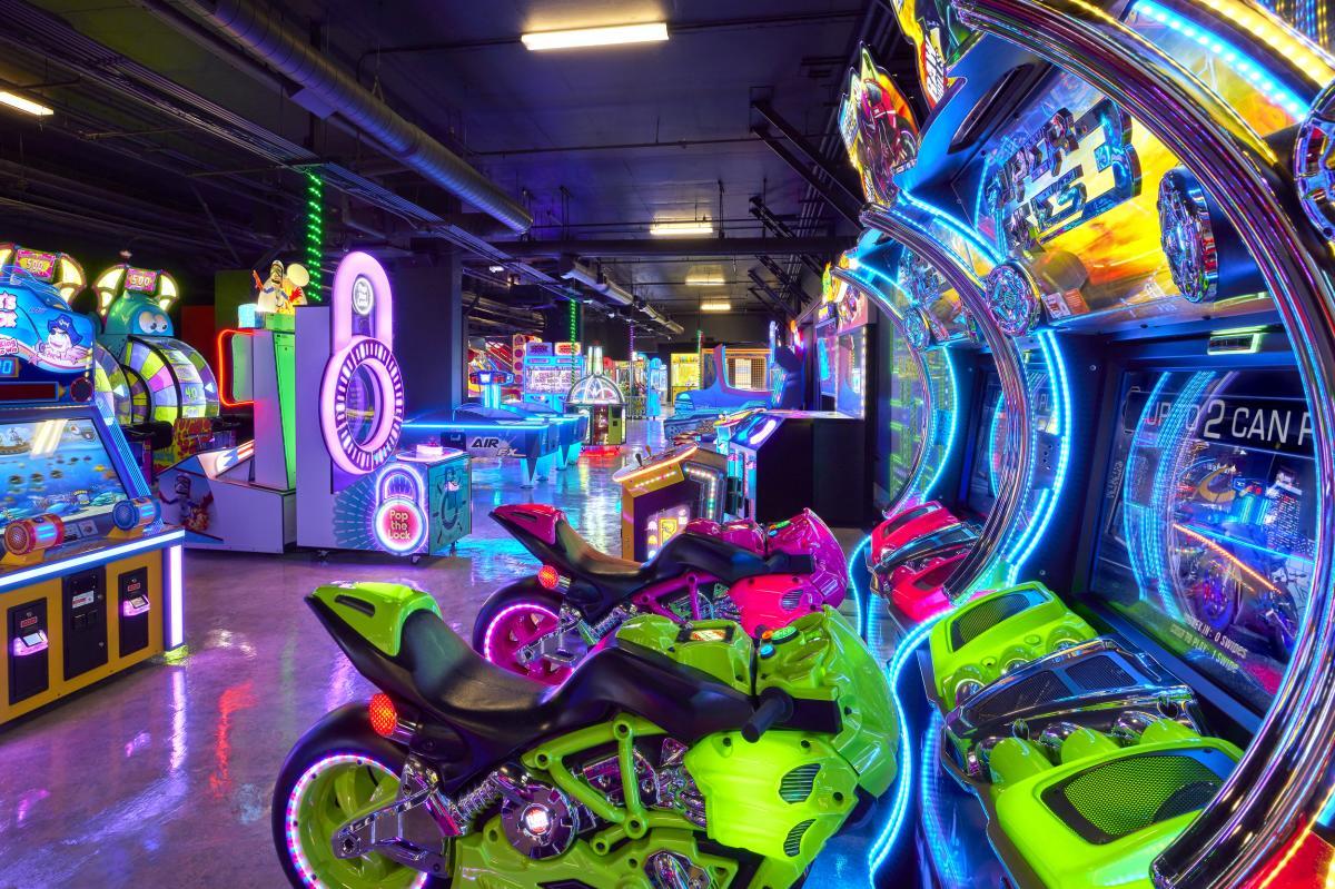 New and retro arcade games at JW Marriott Desert Springs Resort & Spa.