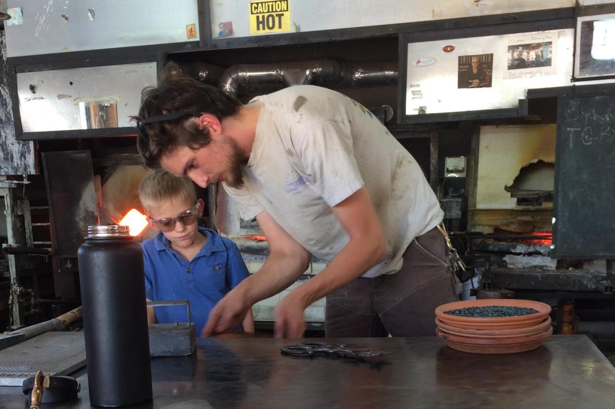 Glass blowing lesson