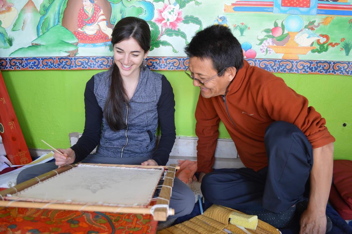 Tibetan Thangka painter