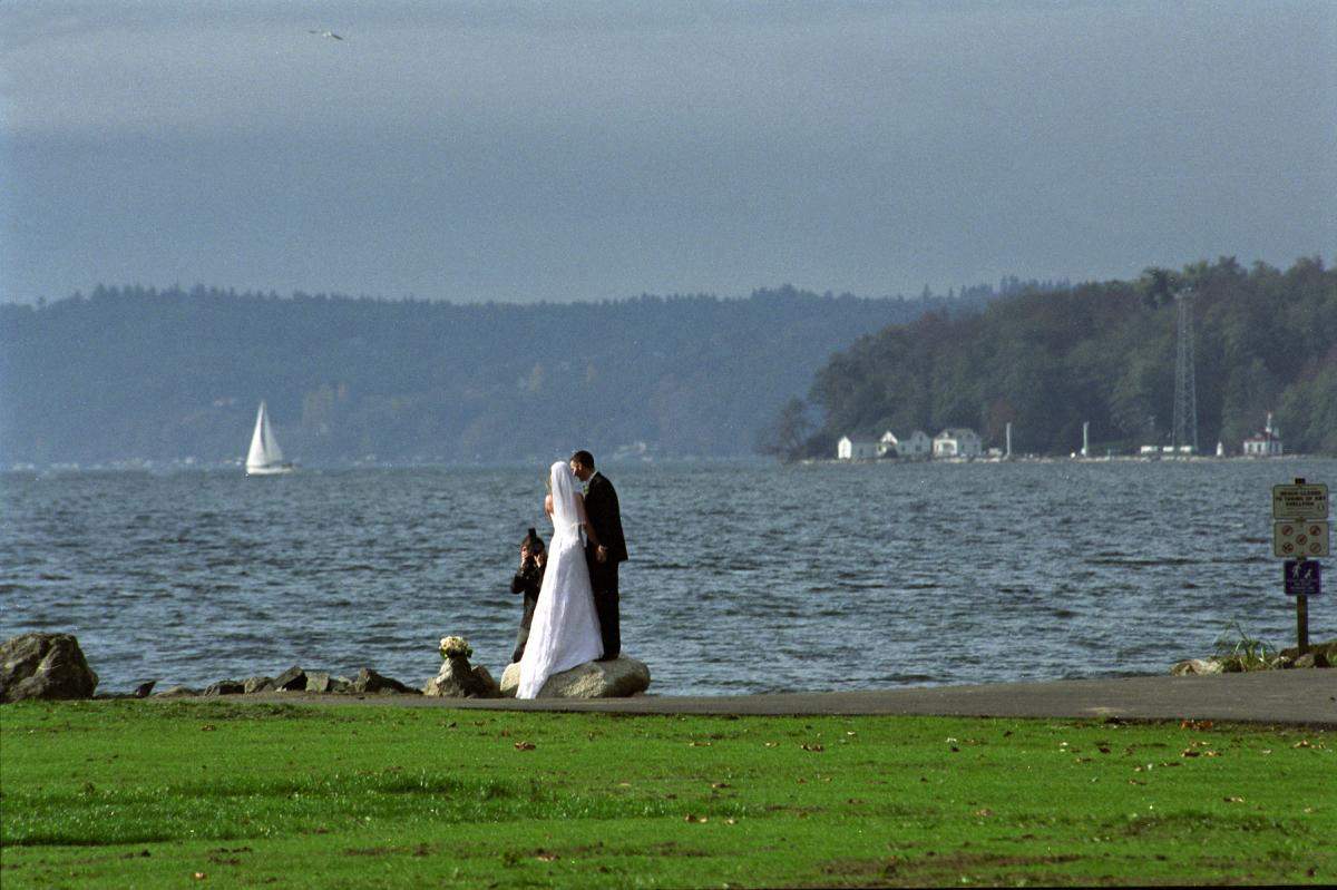Couple at waterfront