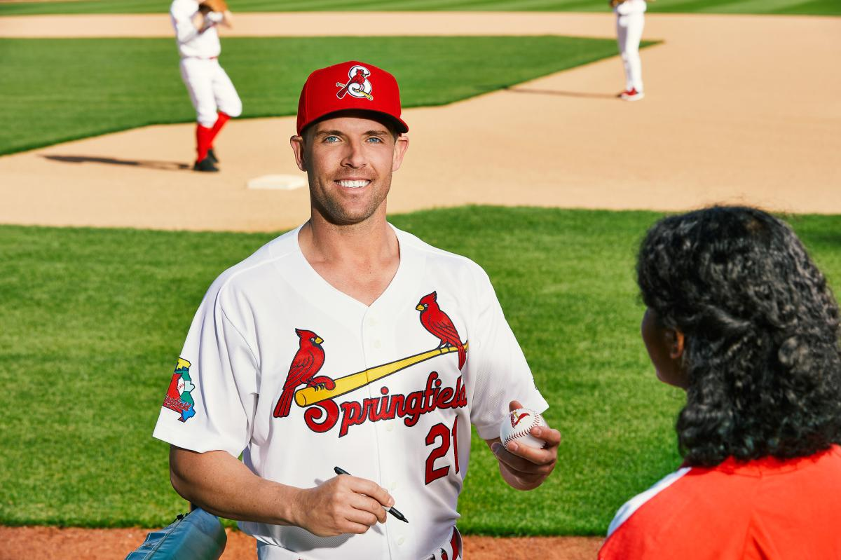 Cardinals player at Hammons Field