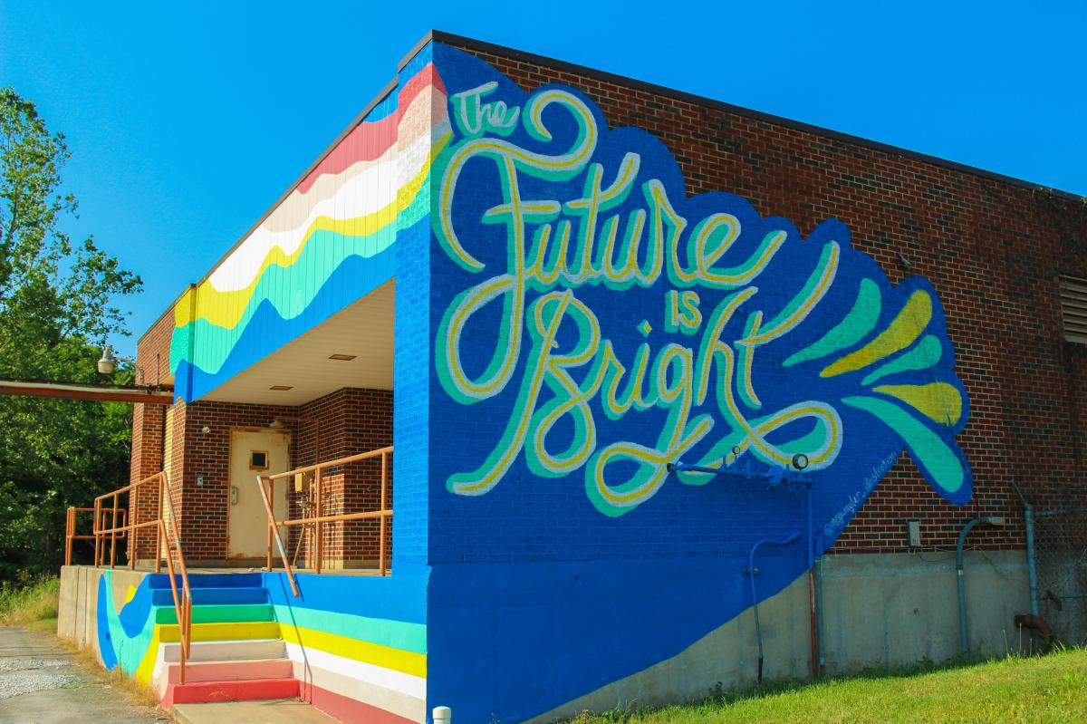 The Future Is Bright Mural