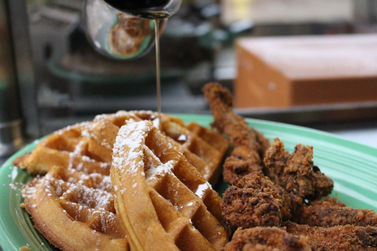 Gailey's Breakfast Cafe fried chicken & waffles