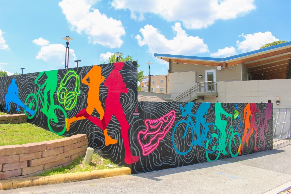 Neon Bikers Mural