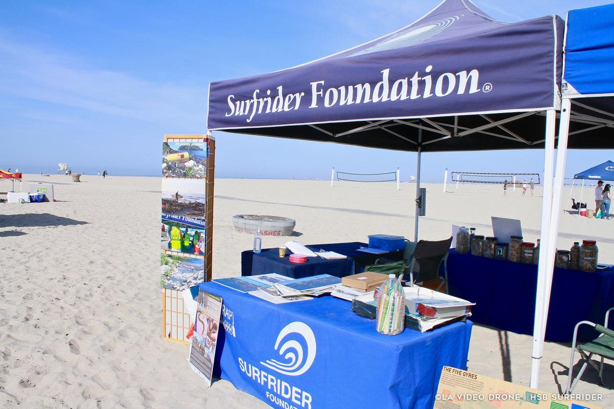Surfrider Foundation Tent at Huntington State Beach