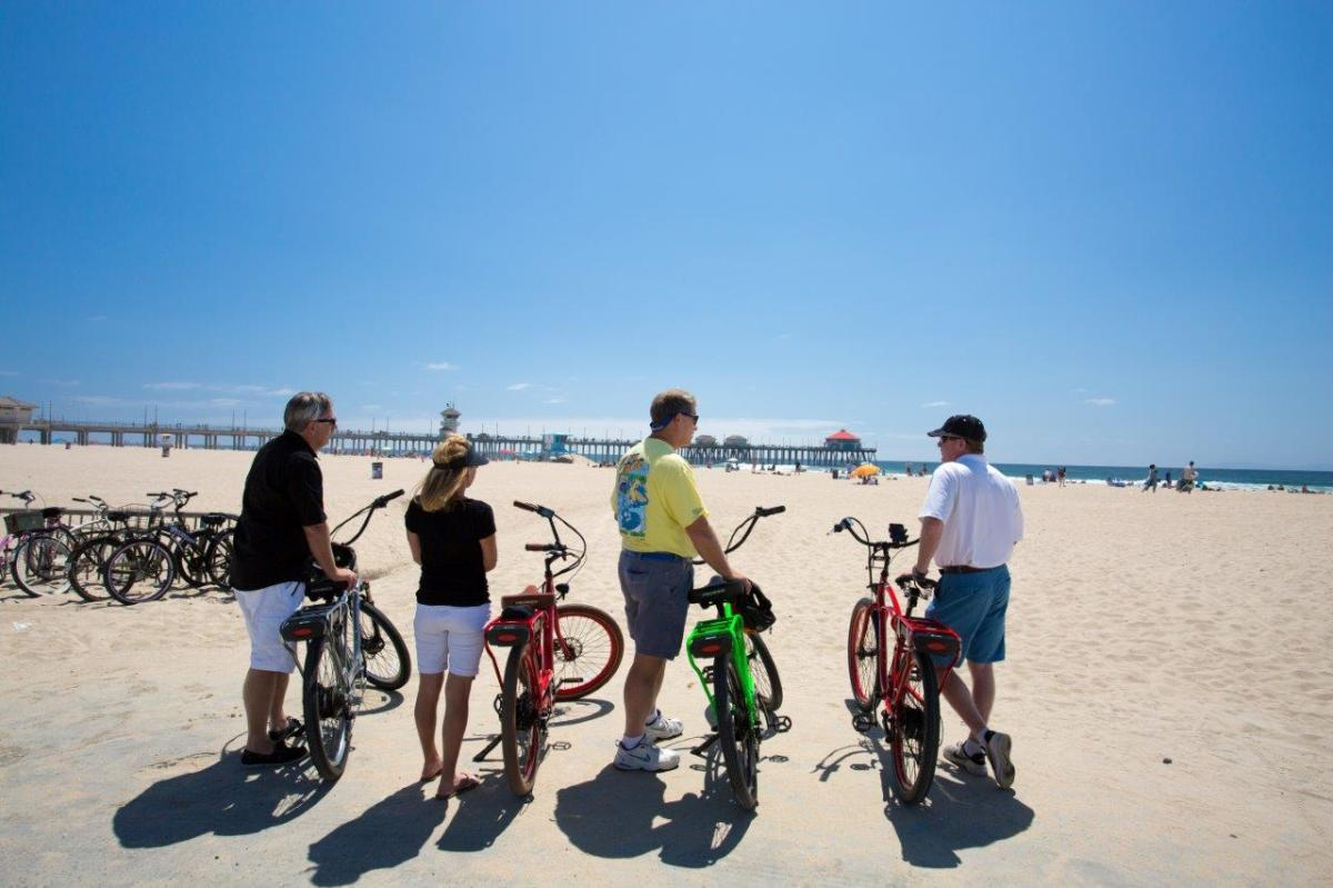Biking in Huntington Beach
