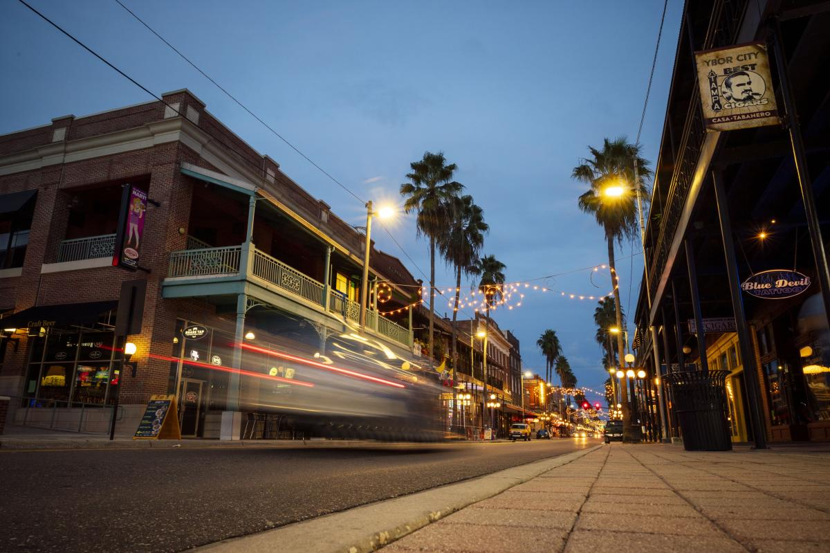 Ybor City at night