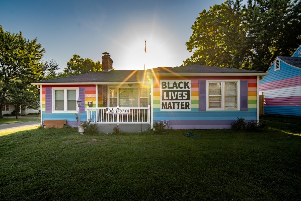 Equality House - Front | LGBTQ+ Rainbow House - Topeka, KS