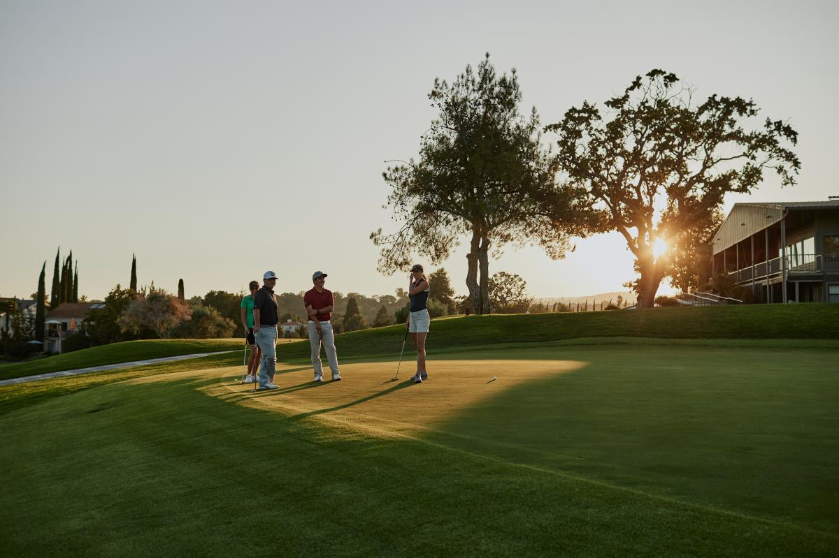 Putting at Sunset in Paso Robles