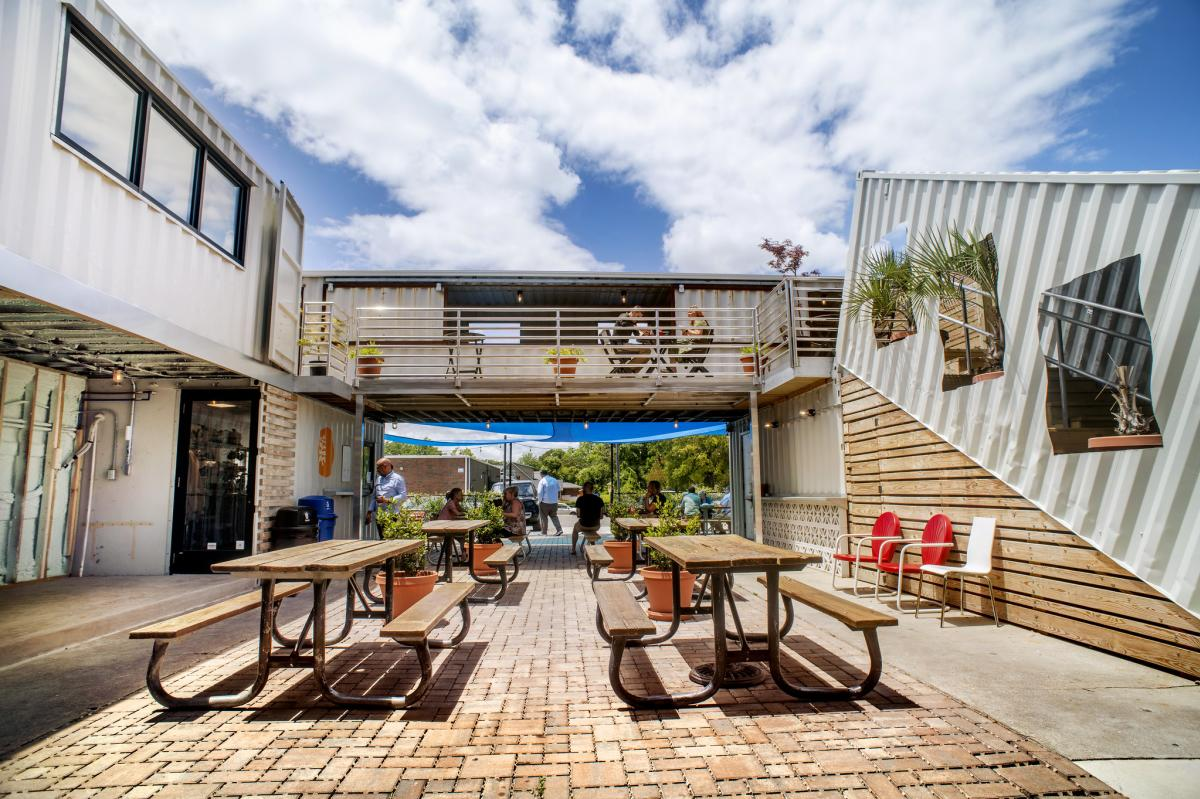 Cargo District's patio
