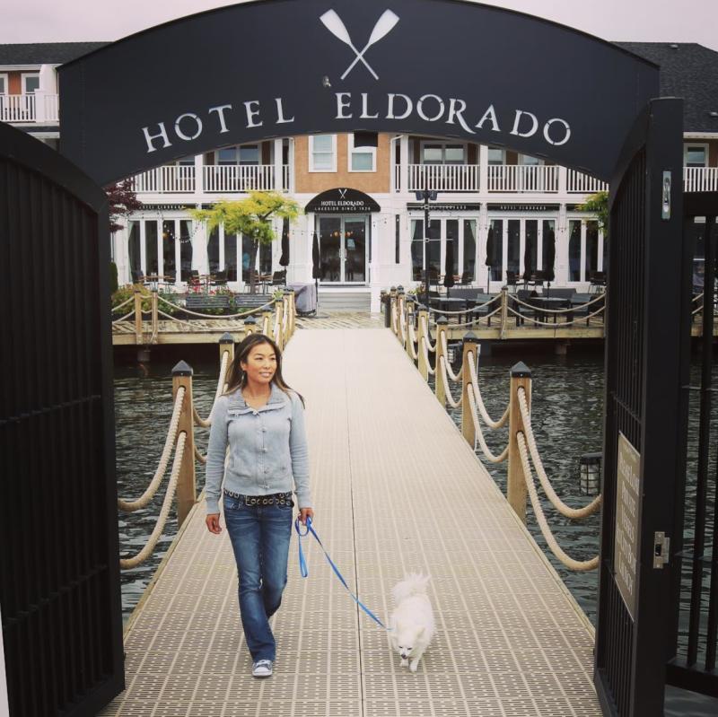 Wesla with Dog at Hotel Eldorado
