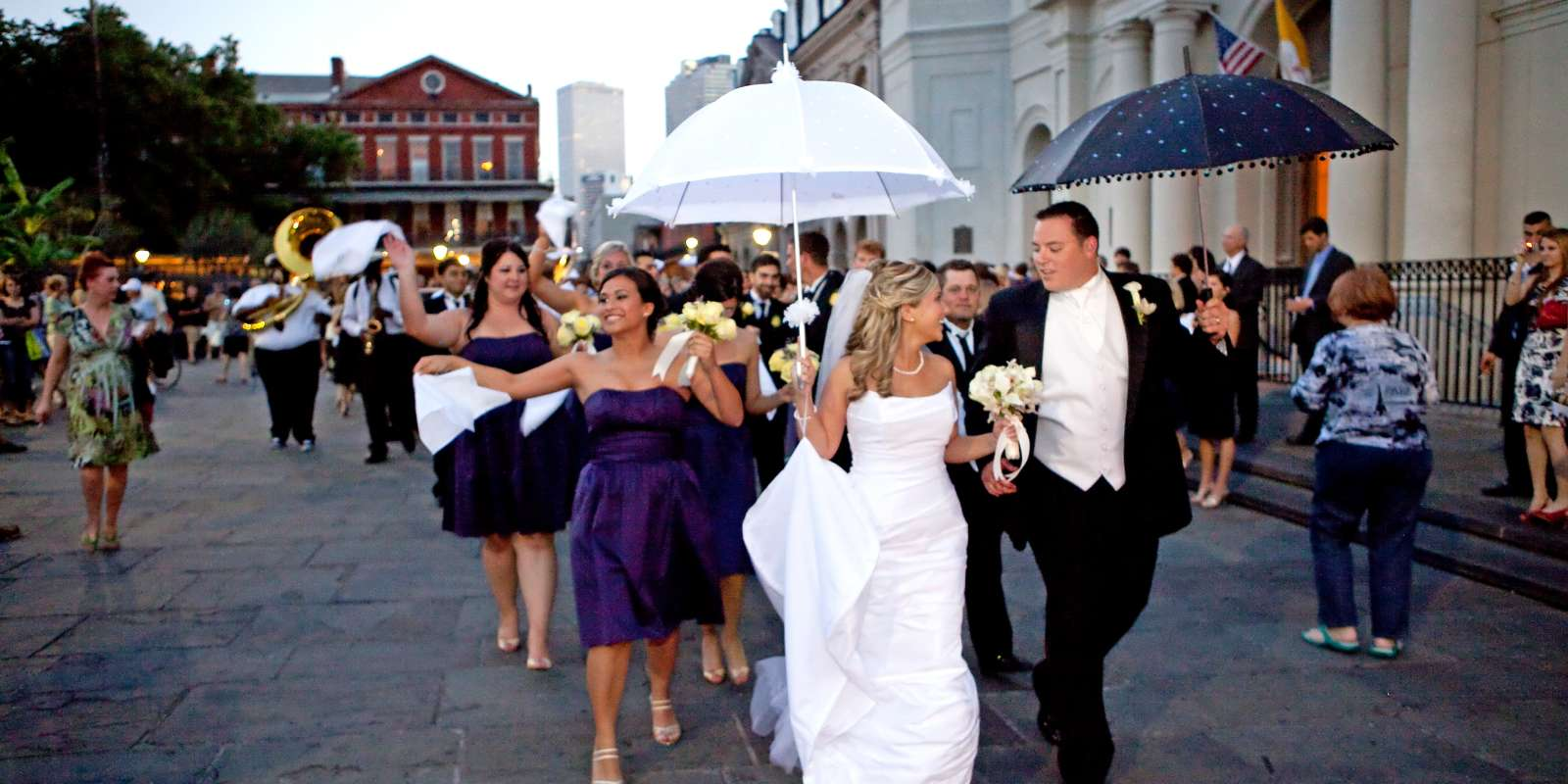 Jackson Square wedding second line