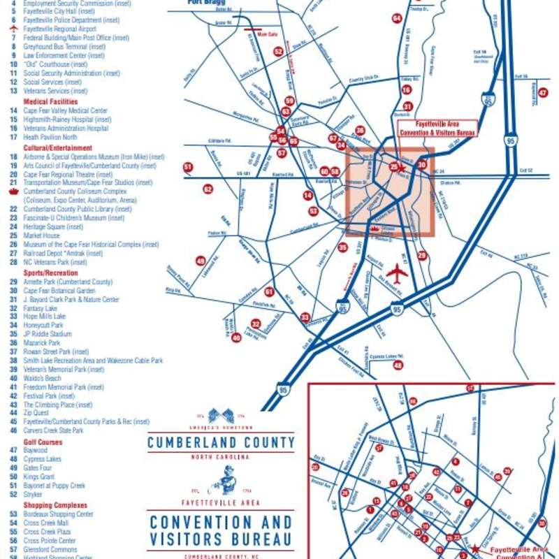Fayetteville Area Map