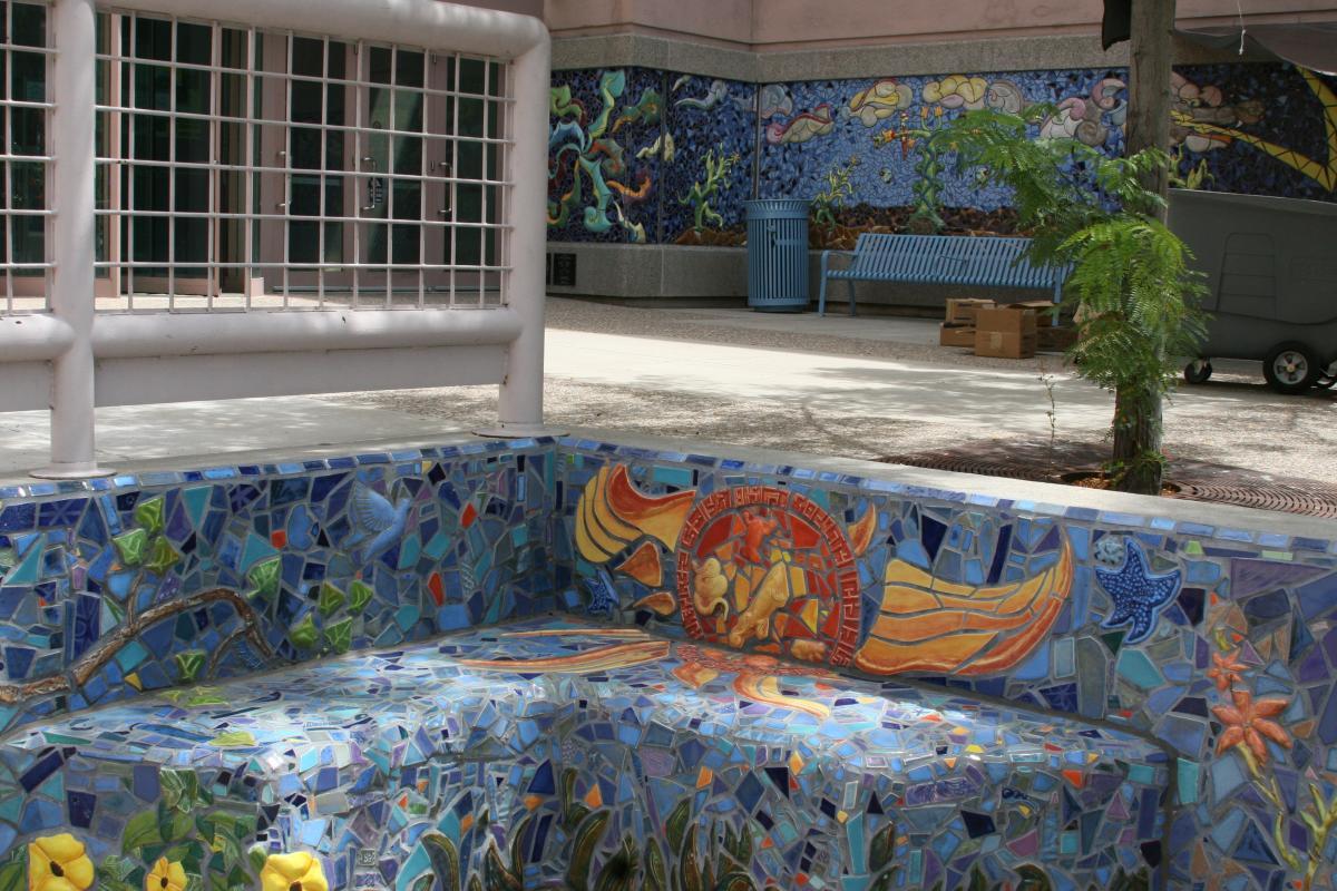 Mosaic Bench Art
