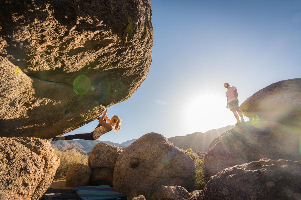 Rock Climbing Bouldering U Mound