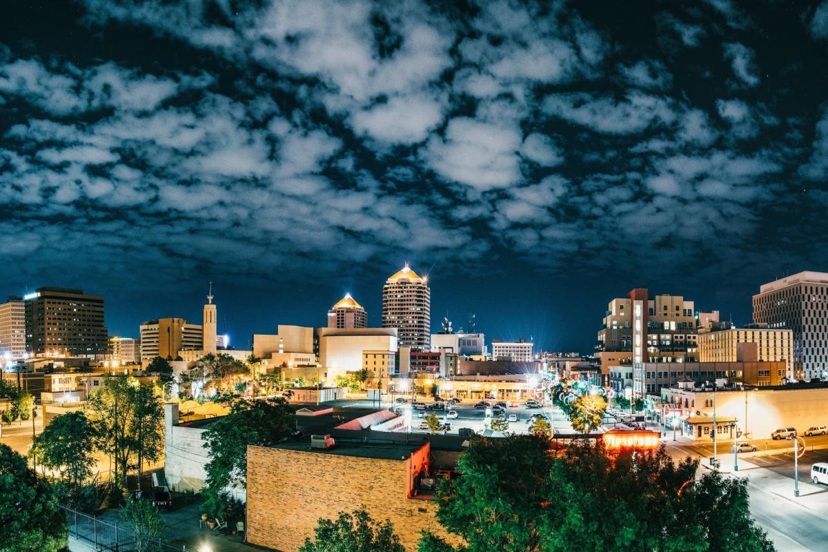 Albuquerque Night Skyline Lights
