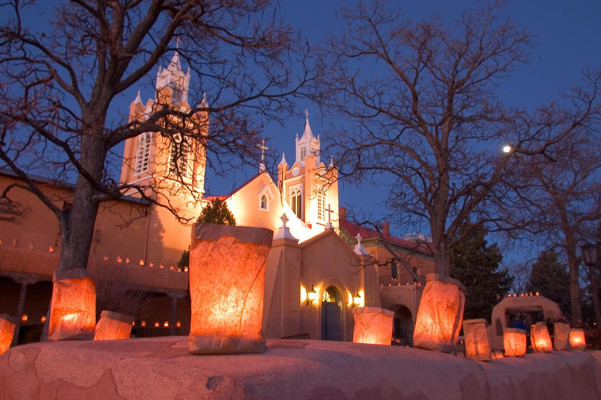 Church with Luminarias 1