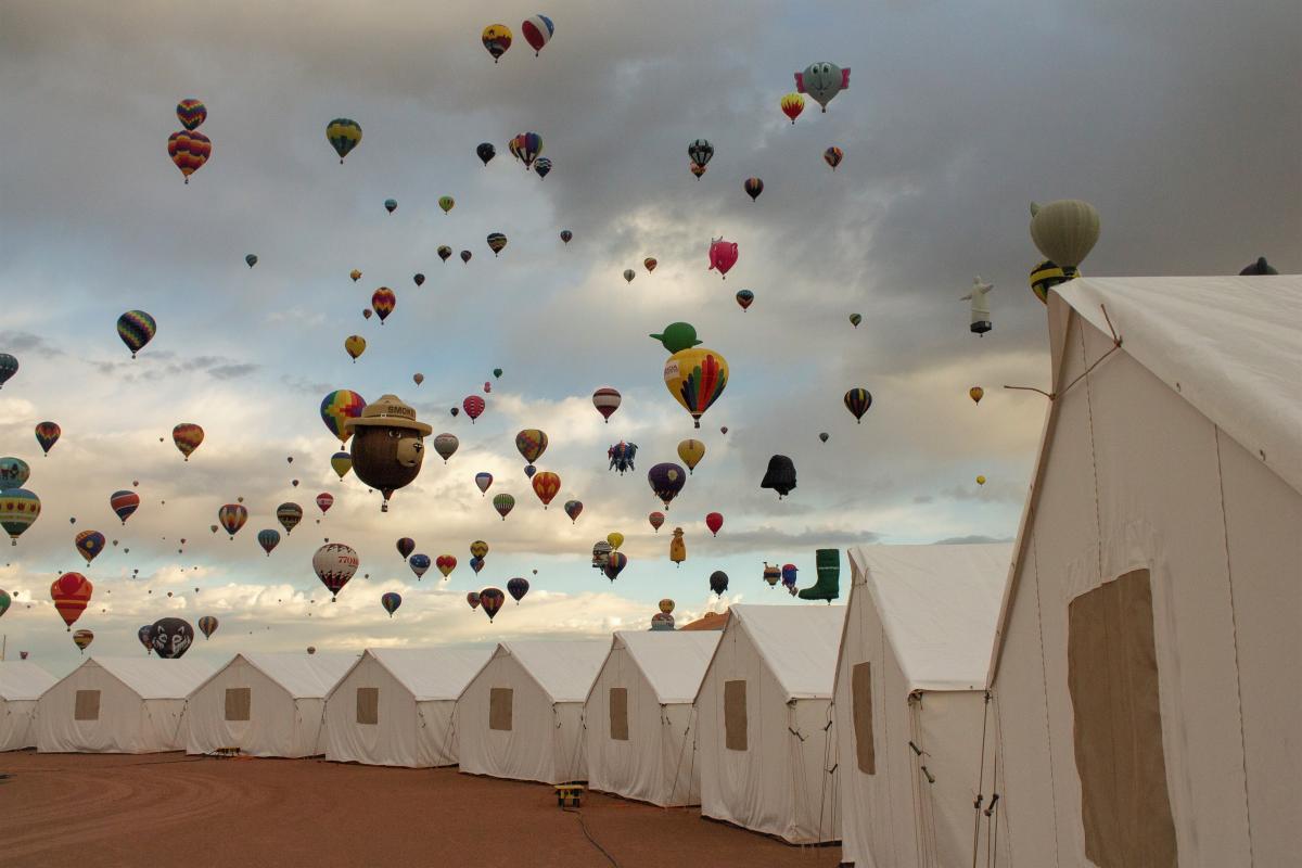 Balloon Fiesta Glamping