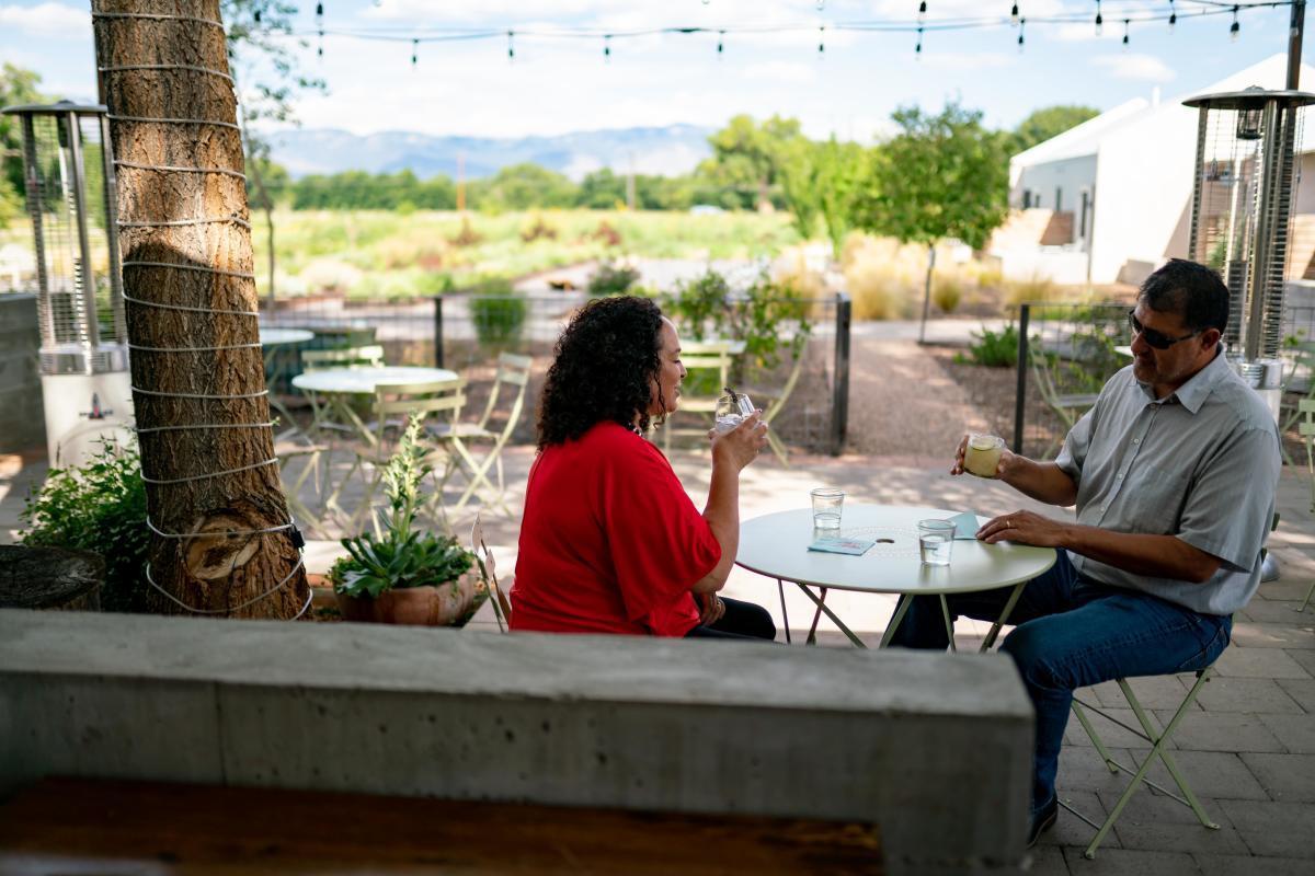 Couple at Campo, Los Poblanos, Albuquerque