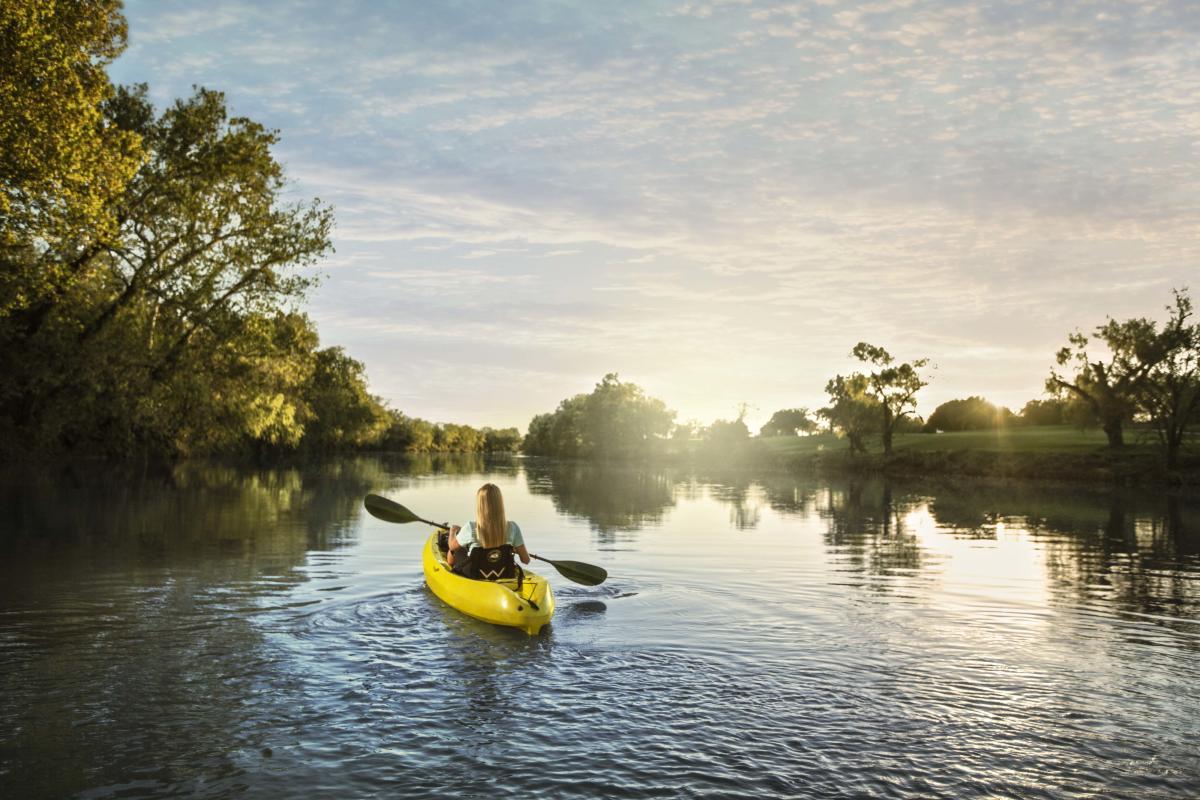 Kayaking on the Colorado River Bastrop Texas