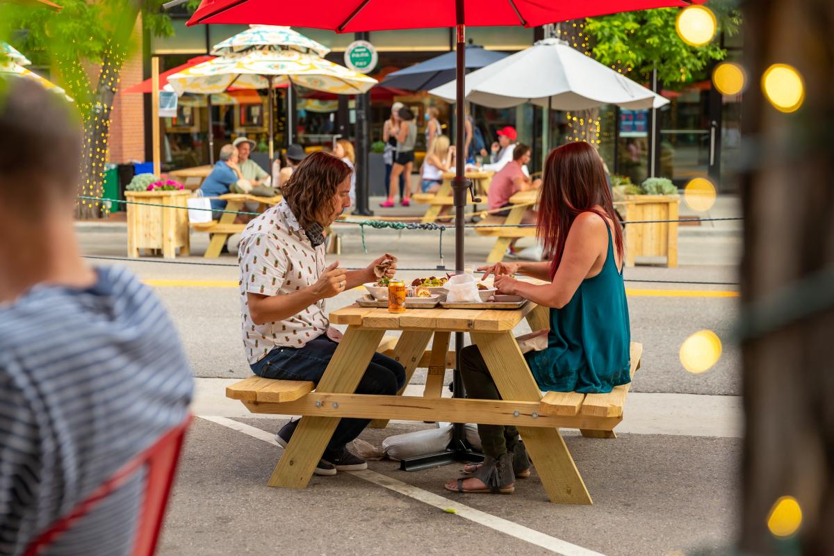 Downtown Outdoor Dining Picnic Tables