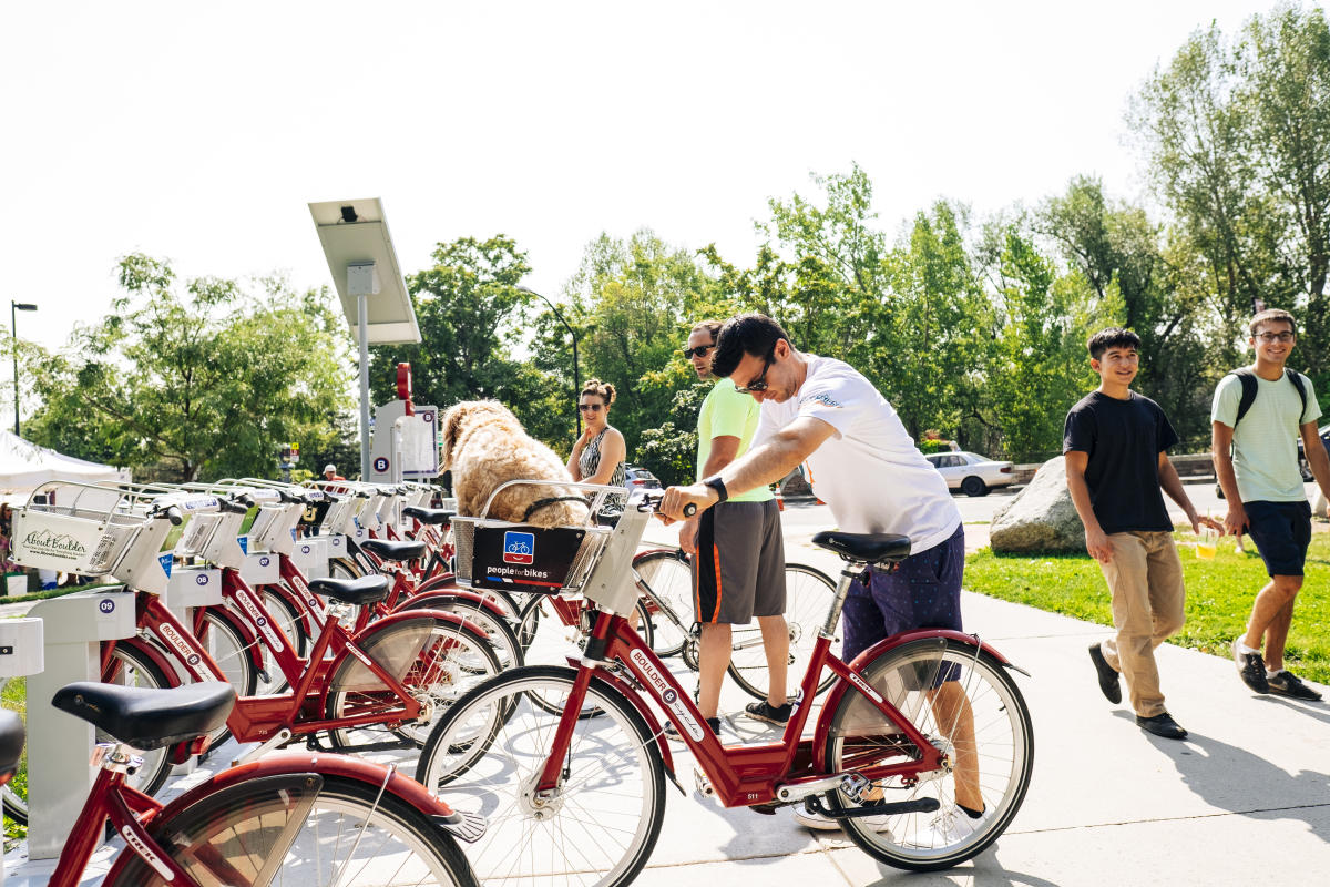 Boulder B-Cycle with Dog