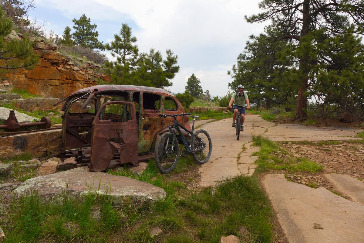 Mountain Biking Boulder Picture Rock