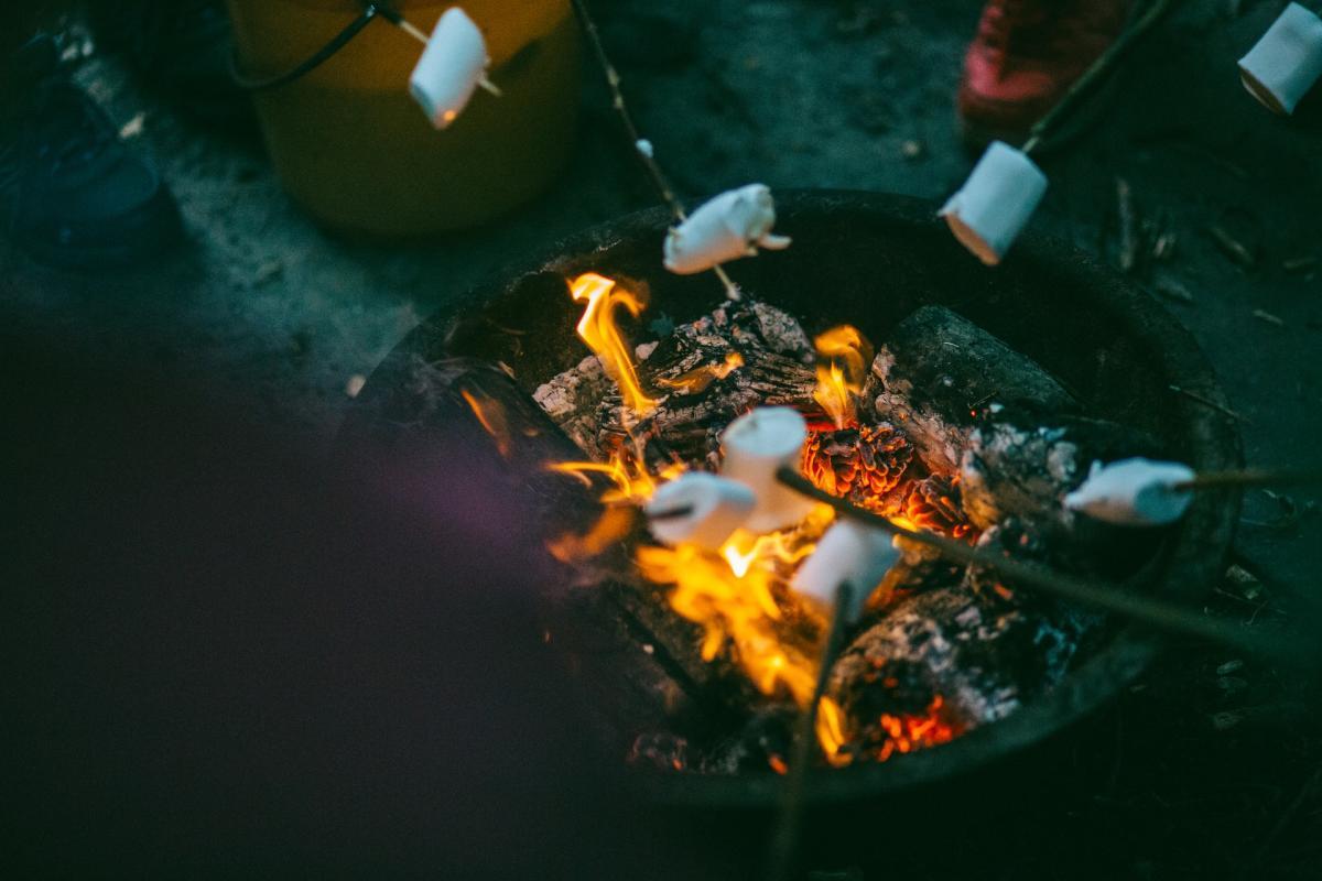 Campfire with Smores