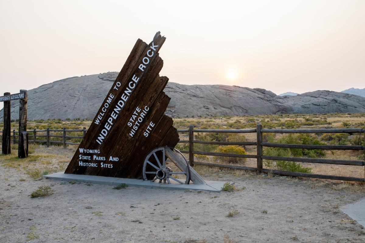 Independence Rock Welcome Sign, Wyoming