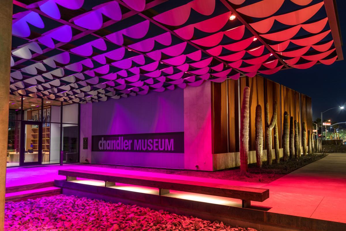 Chandler Museum - Exterior at Night