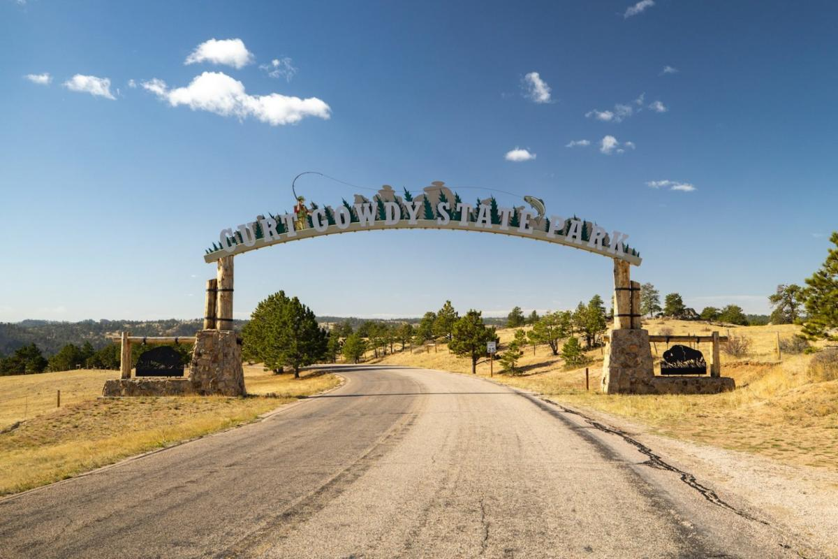 Enterance to Curt Gowdy State Park outside Cheyenne, Wyoming