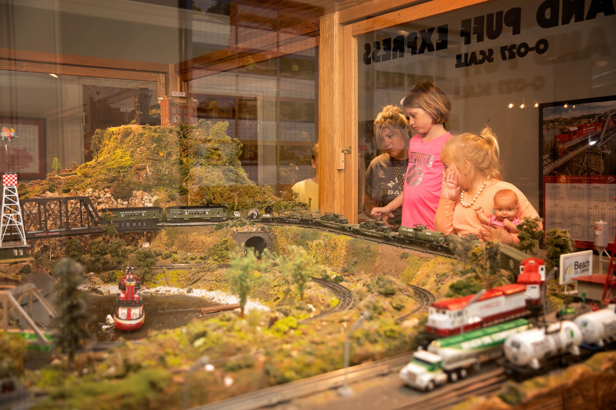 train exhibit at the museum