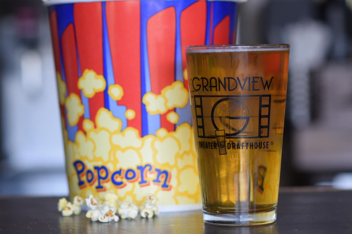 Popcorn and beer from Grandview Theater