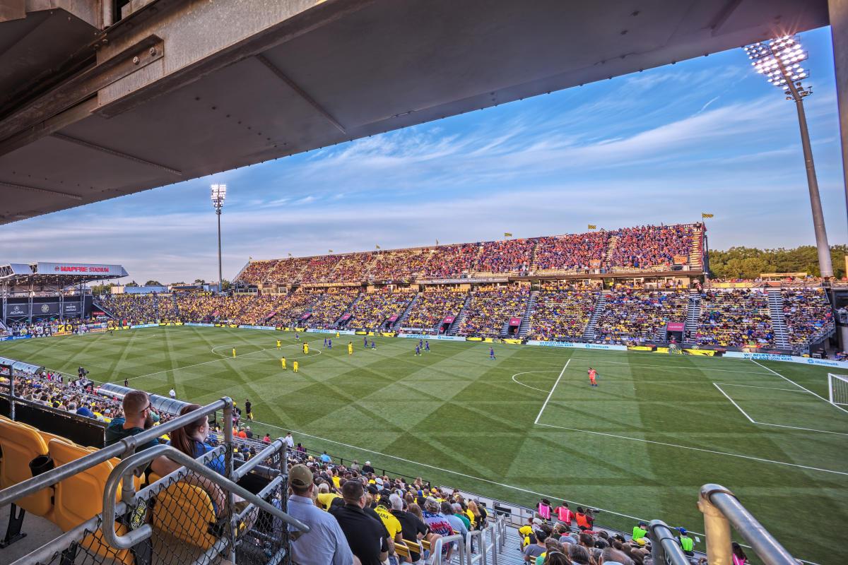MAPFRE Stadium sunset during Crew SC game